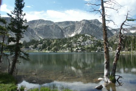 Lake Marie located on the beautiful Snowy Range Scenic Byway
