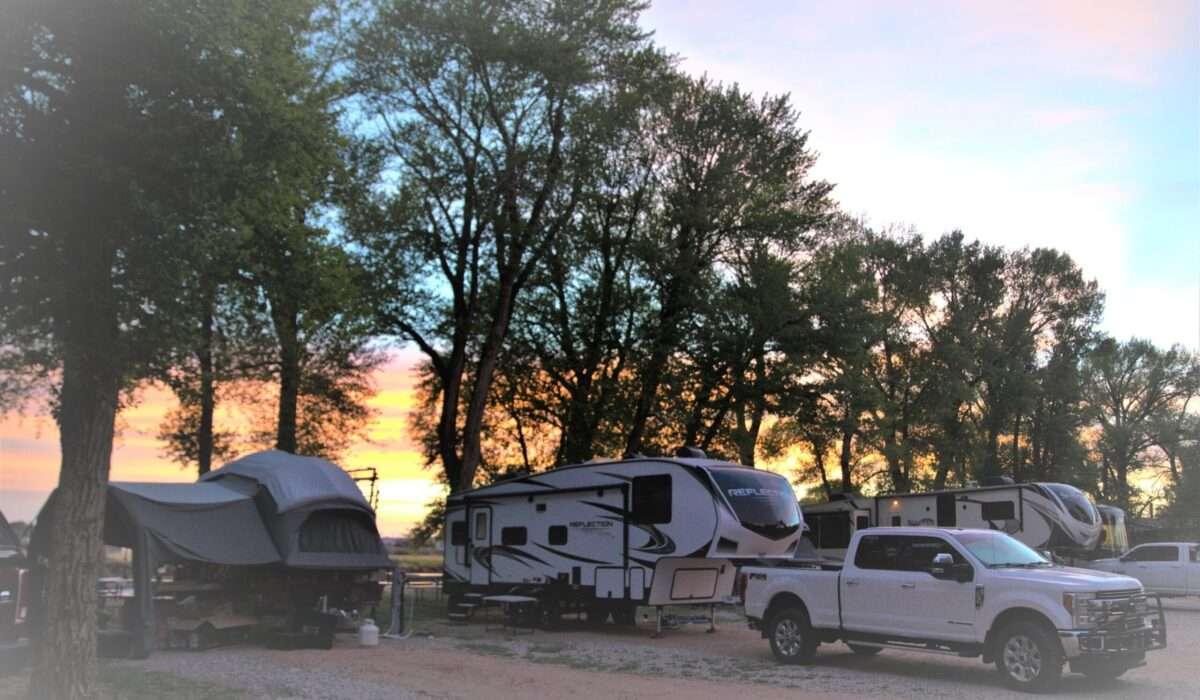 Sunset at Deer Haven RV Park