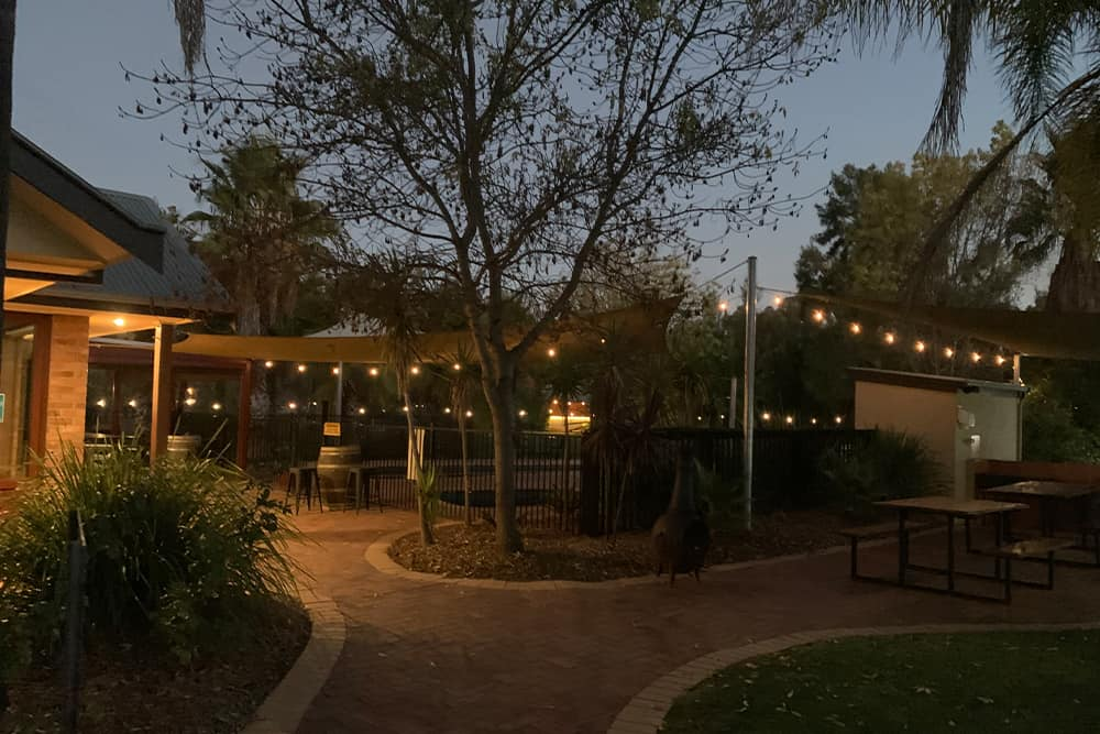 private function area in echuca at night