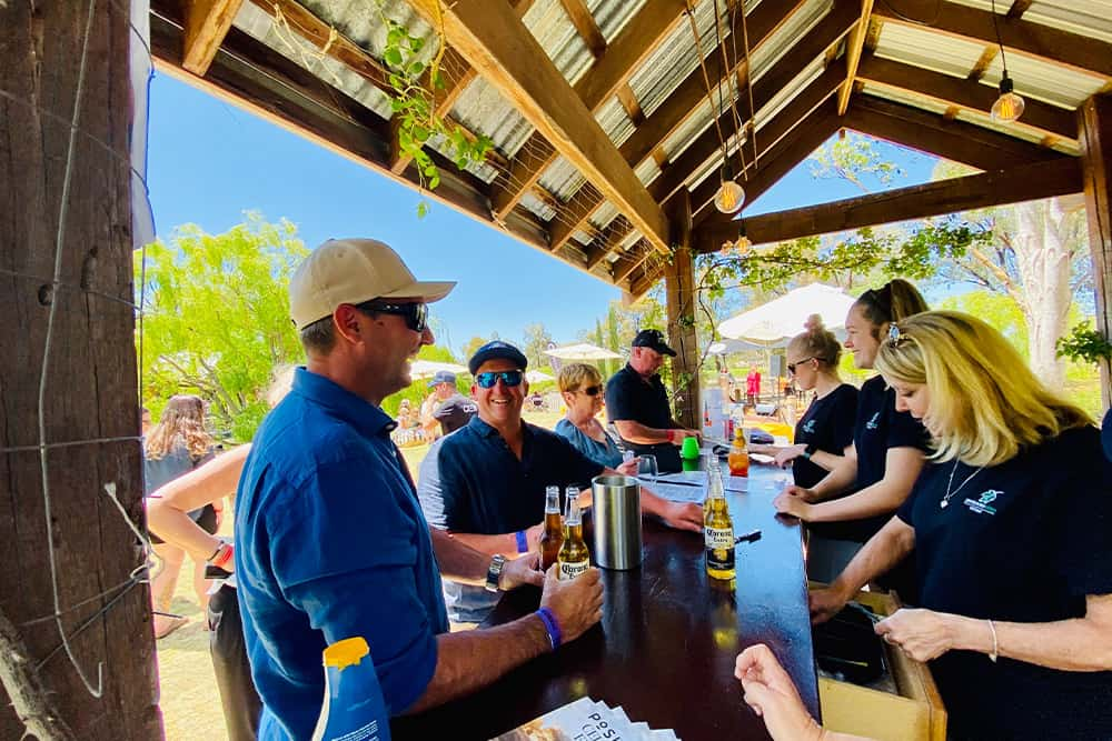 serving drinks at bar in moama