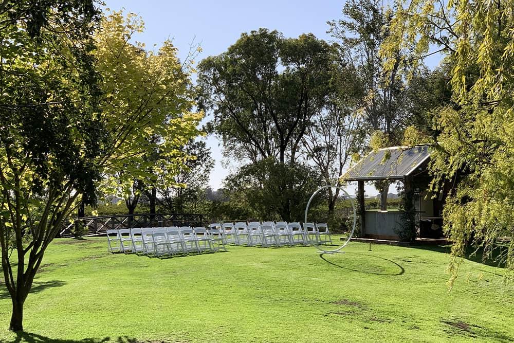 wedding ceremony setup in moama