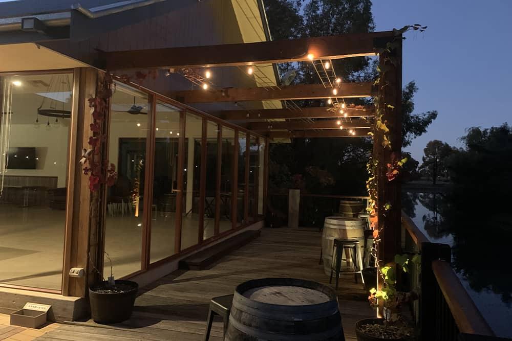 wedding venue at night moama