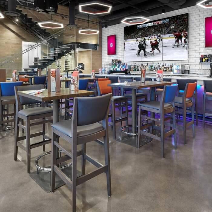 Boston Pizza Ice District Project 1, Restaurant Interior Design