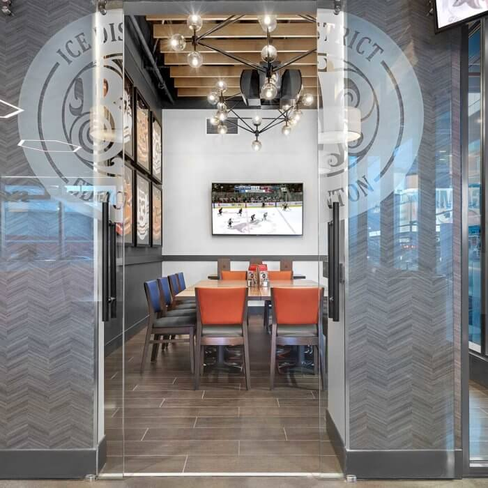 Boston Pizza Ice District Project 4, Restaurant Interior Design