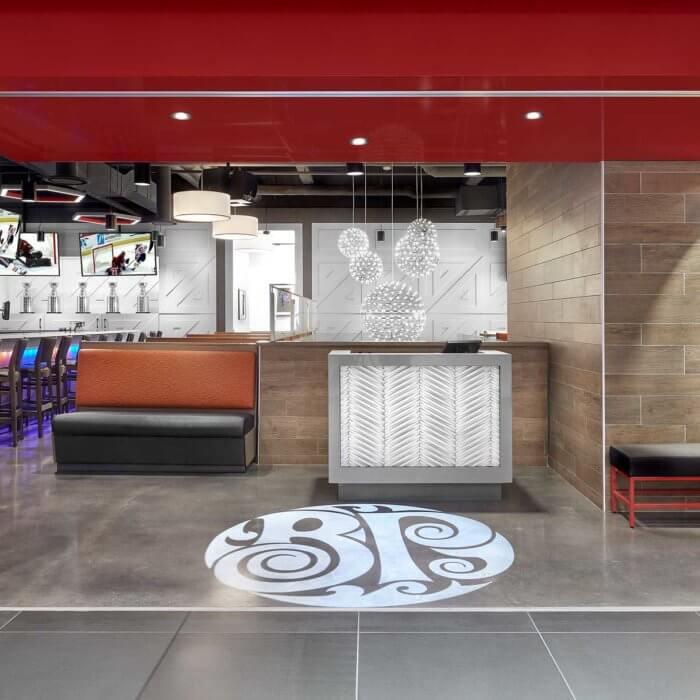 Boston Pizza Ice District Project 5, Restaurant Interior Design