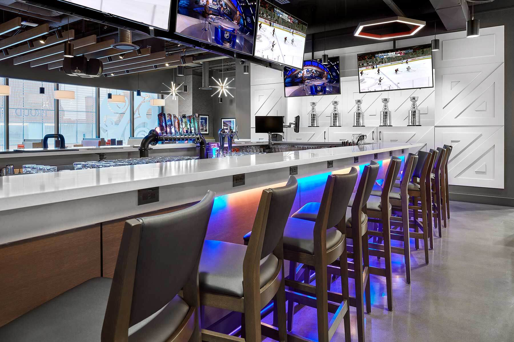 Boston Pizza Ice District Project 6, Restaurant Interior Design