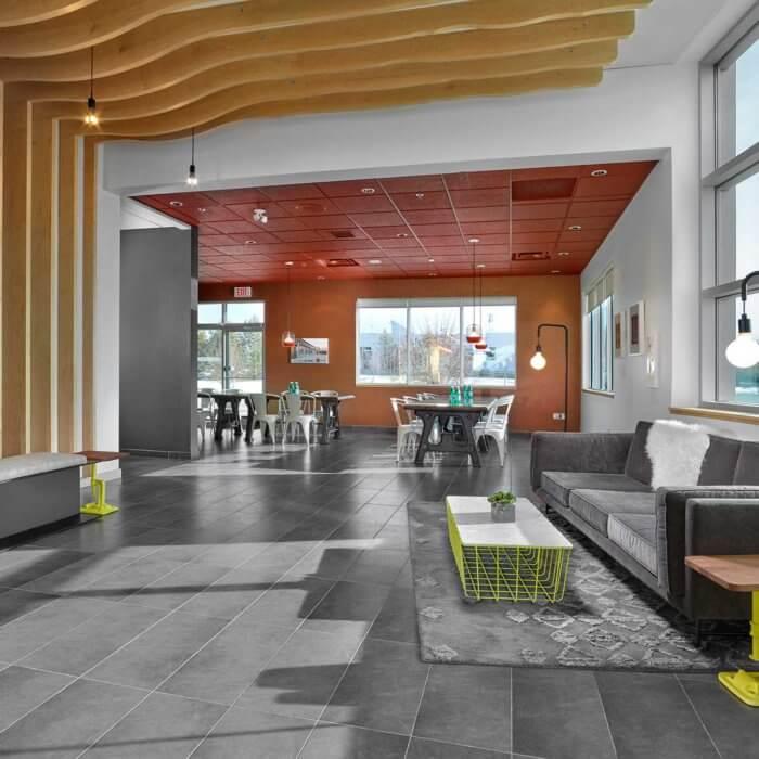 Chandos Construction project 1, commercial interior design Edmonton