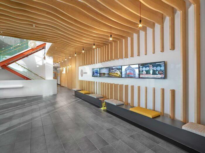 Chandos Construction project 2, commercial interior design Edmonton