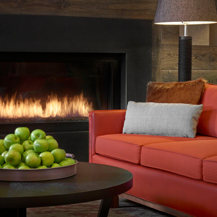 Best Western Hotel Interior Design Lobby Apples Orange Sofa