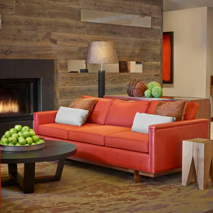 Best Western Hotel Interior Design Lobby Fireplace Barnboard
