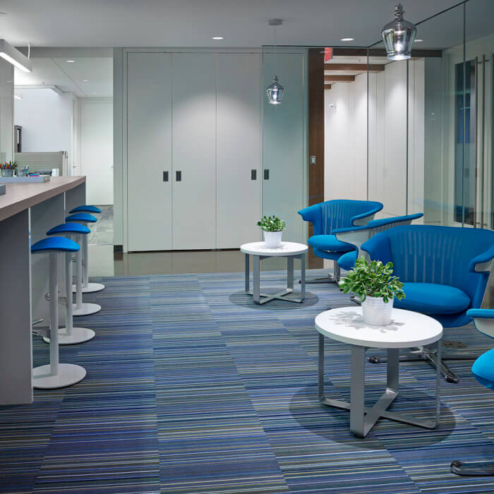 Brookfield Residential Office Interior Design Edmonton, Collaboration Touch Down Area