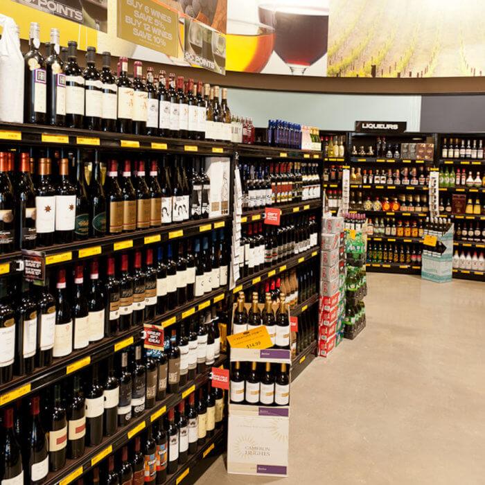 Liquor Depot Retail Prototype Wine Merchandising, commercial interior design Edmonton