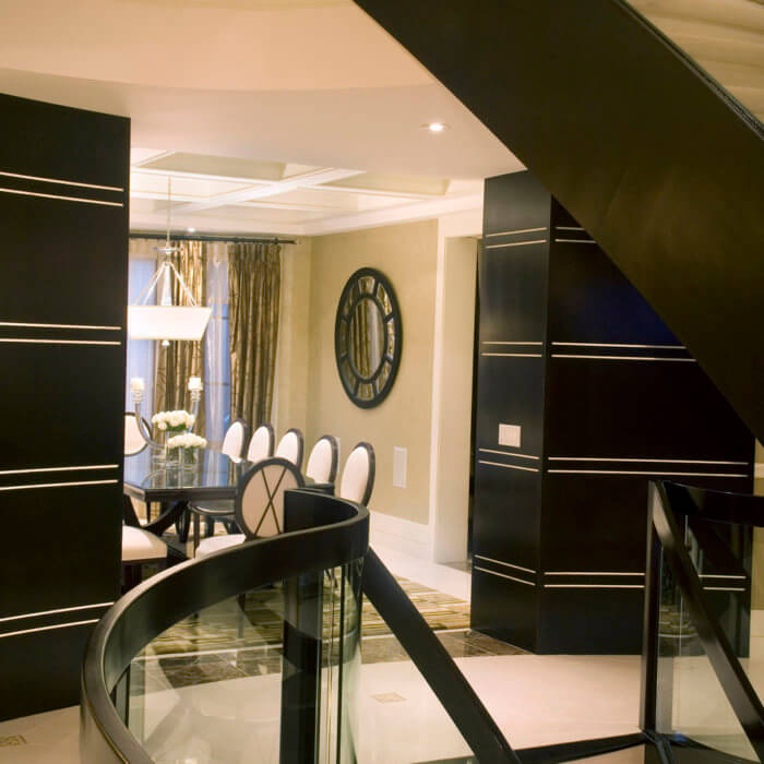 Interior Design Private Residence Dining Room Hardwood White