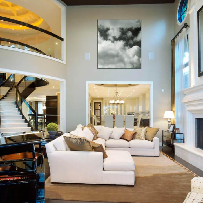 Private Residence Living Room Kitchen Interior Design