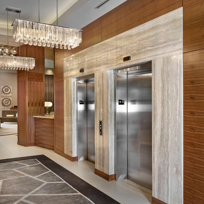Radisson Calgary Airport Hotel Interior Design Conference Center Lobby Lounge 2