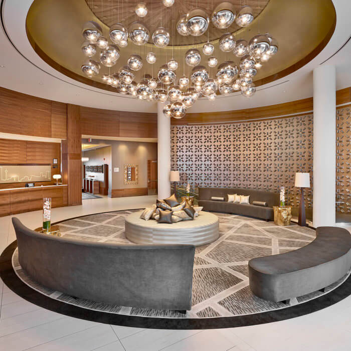 Radisson Calgary Airport Hotel Interior Design Conference Center Lobby Lounge 3