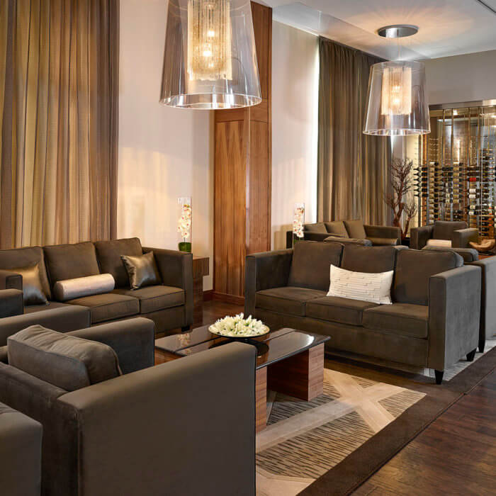 Radisson Calgary Airport Hotel Interior Design Conference Center Lobby Lounge