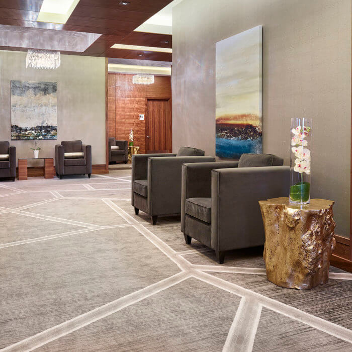 Radisson Calgary Airport Hotel Interior Design Conference Center Lobby Lounge 8