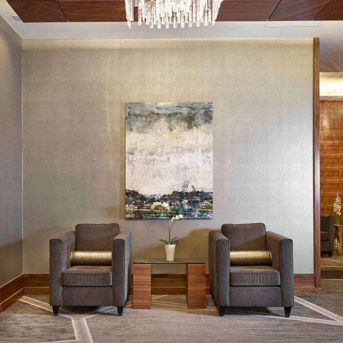Radisson Calgary Airport Hotel Interior Design Conference Center Lobby Lounge 9