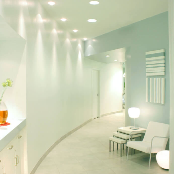 Rain Salon Interior Design West Edmonton Mall Blue Personal Care 2