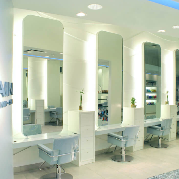 Rain Salon Interior Design West Edmonton Mall 3