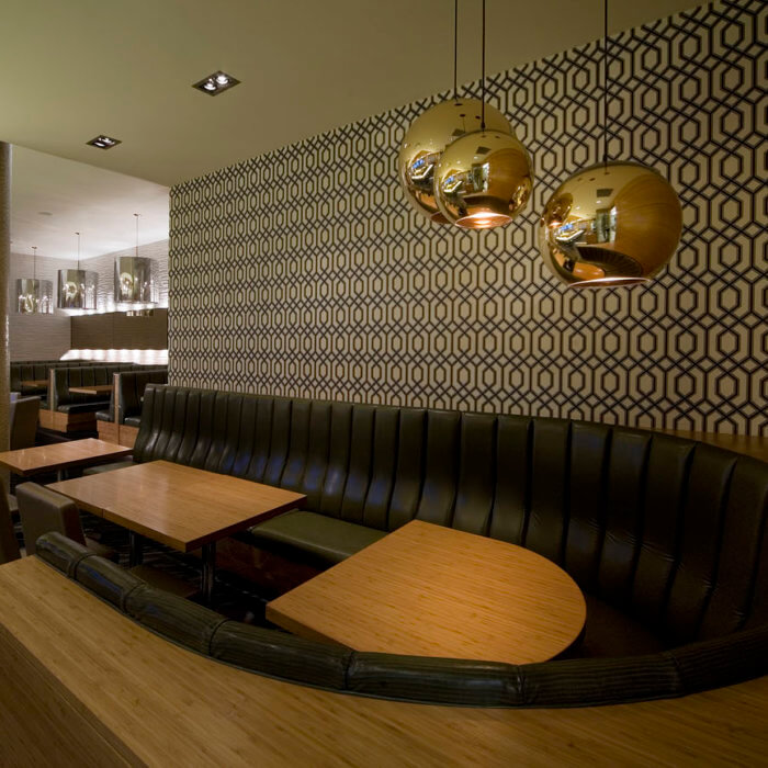 Restaurant Interior Design Calgary Rics Grill, Sheraton Four Points Booth