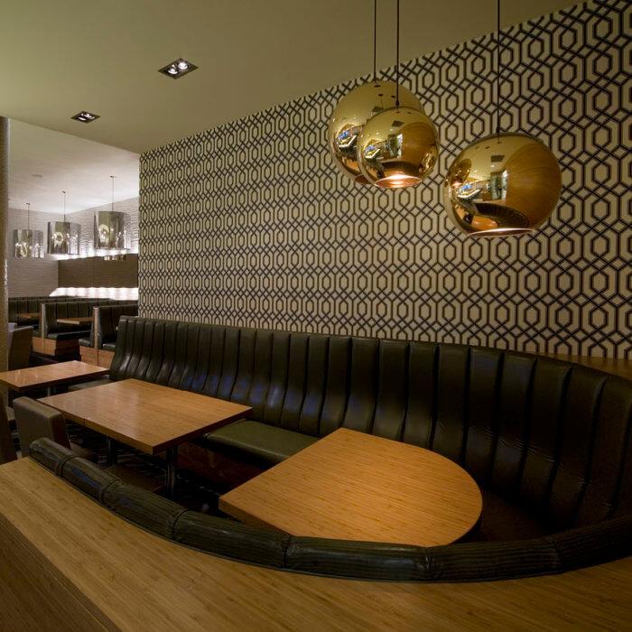 Restaurant Interior Design Calgary Rics Grill, Sheraton Four Points Booth