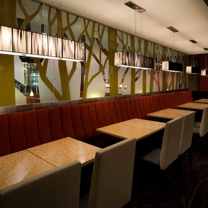 Rics Grill Grande Prairie Booths Wine Cellar Restaurant Interior Design