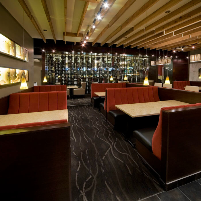 Restaurant Interior Design Rics Grill Grande Prairie Booths Wine Cellar Restaurant Project
