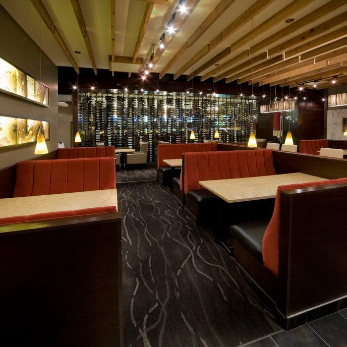 Restaurant Interior Design Rics Grill Grande Prairie Booths Wine Cellar Restaurant Project