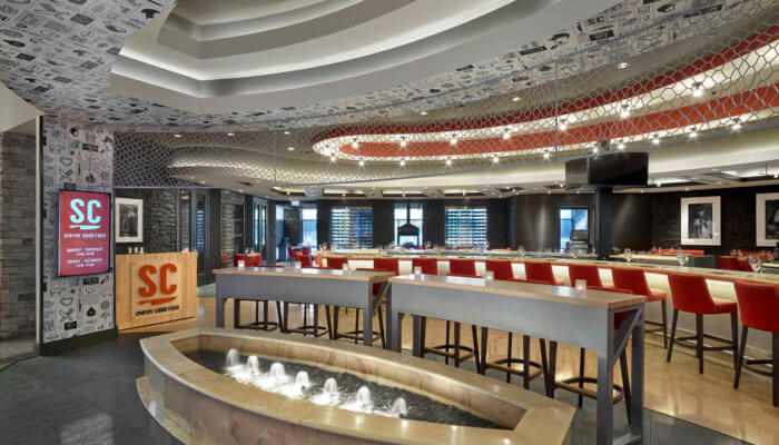 SC Restaurant Interior Design River Cree Bar Dining Room Gaming Food and Beverage