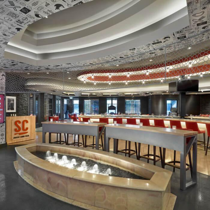 SC Restaurant Interior Design River Cree Bar Dining Room Gaming Food and Beverage
