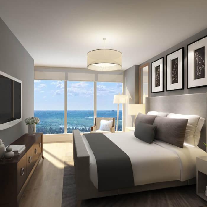 West Block Suite Bedroom, interior design companies in Edmonton