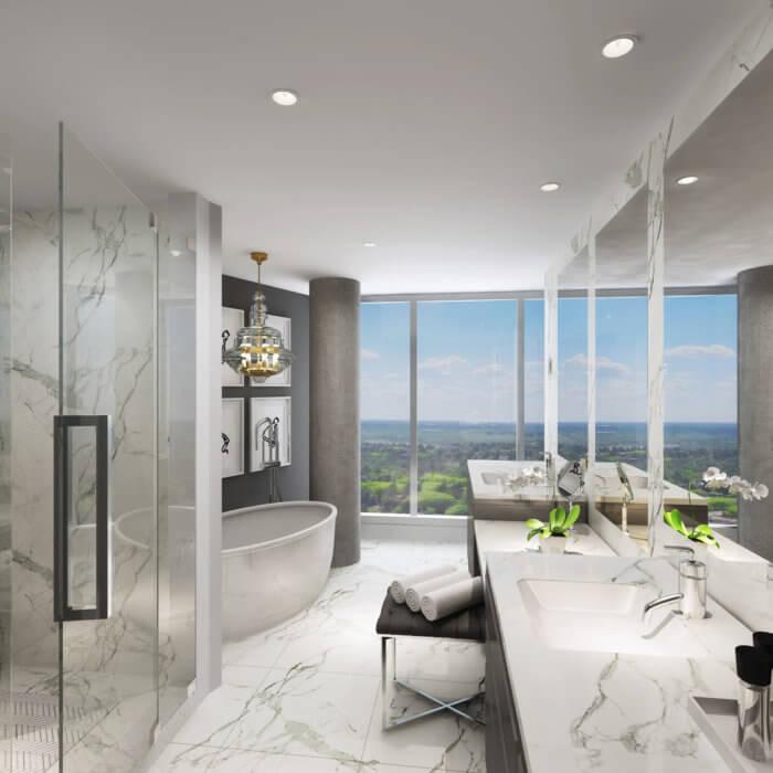 West Block Suite Ensuite, interior design companies in Edmonton