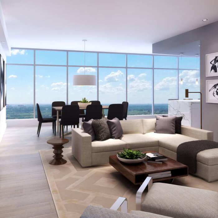 West Block Suite Living Room, Interior Design Firms Edmonton