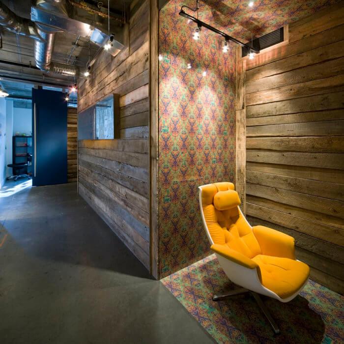 X Gen Office Interior Design, Software Lobby Reception Concrete Vintage 2