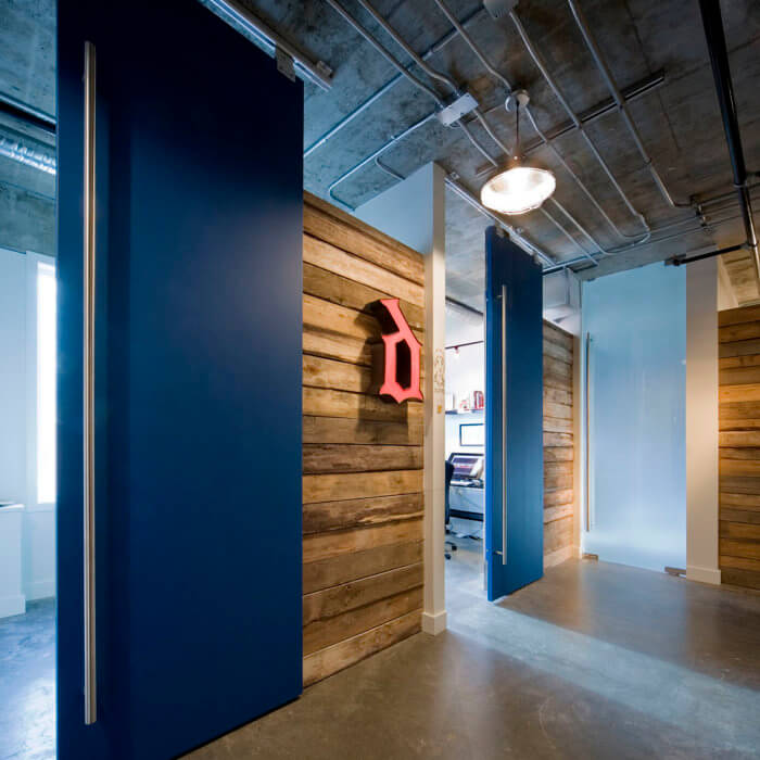 X Gen Office Interior Design, Software Lobby Reception Concrete Vintage 3