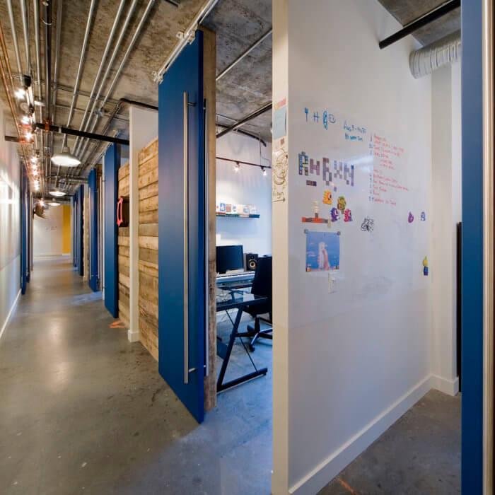 X Gen Office Interior Design, Software Lobby Reception Concrete Vintage 4
