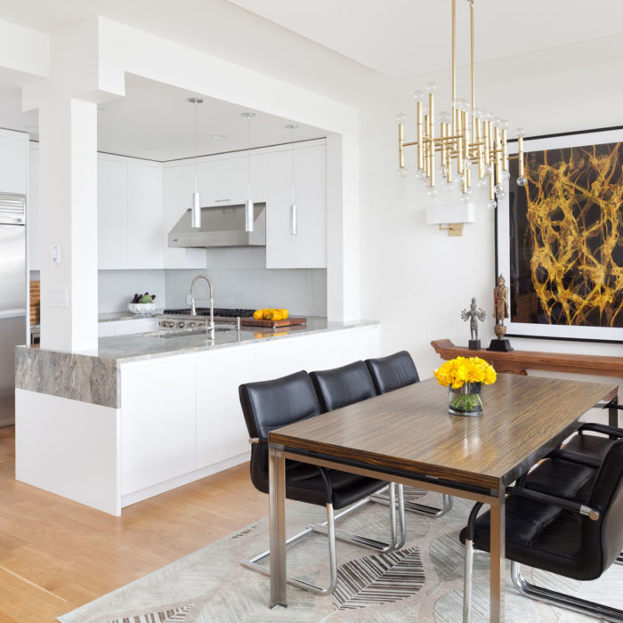 Yaletown Residence Dining Room Kitchen Interior Design Firms Vancouver