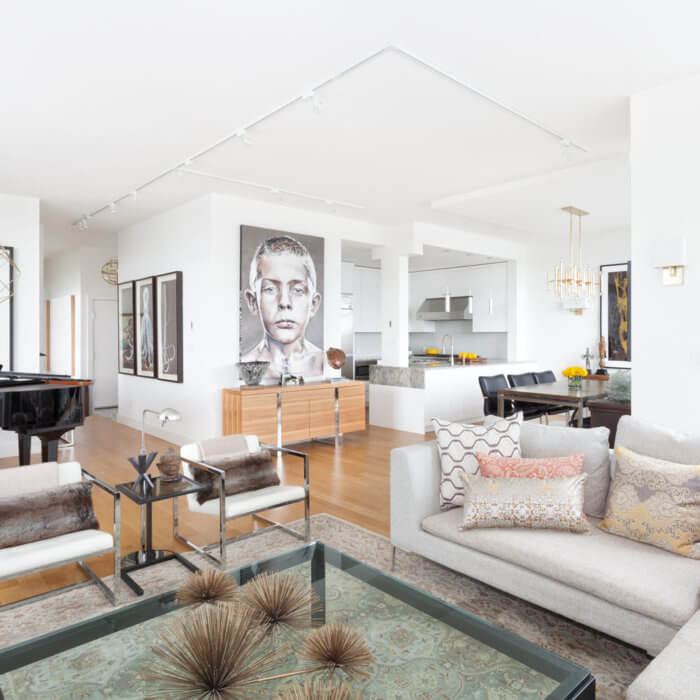 Yaletown Residence Living Room Interior Design Firms Vancouver