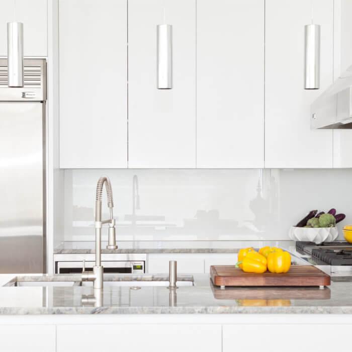 Yaletown Residence Interior Design Vancouver Kitchen White