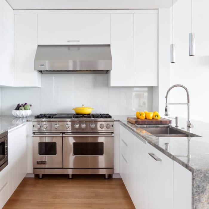 Yaletown Residence White Kitchen Vancouver Interior Design