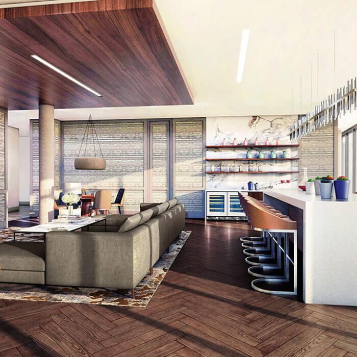West Block Amenity commercial interior design edmonton