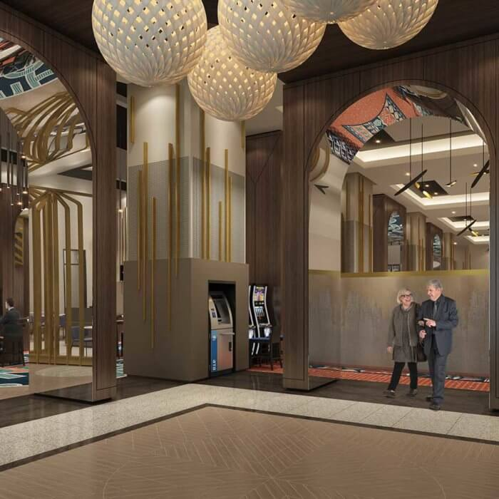 River Cree Resort Casino Entry | Edmonton Casino Interior Design