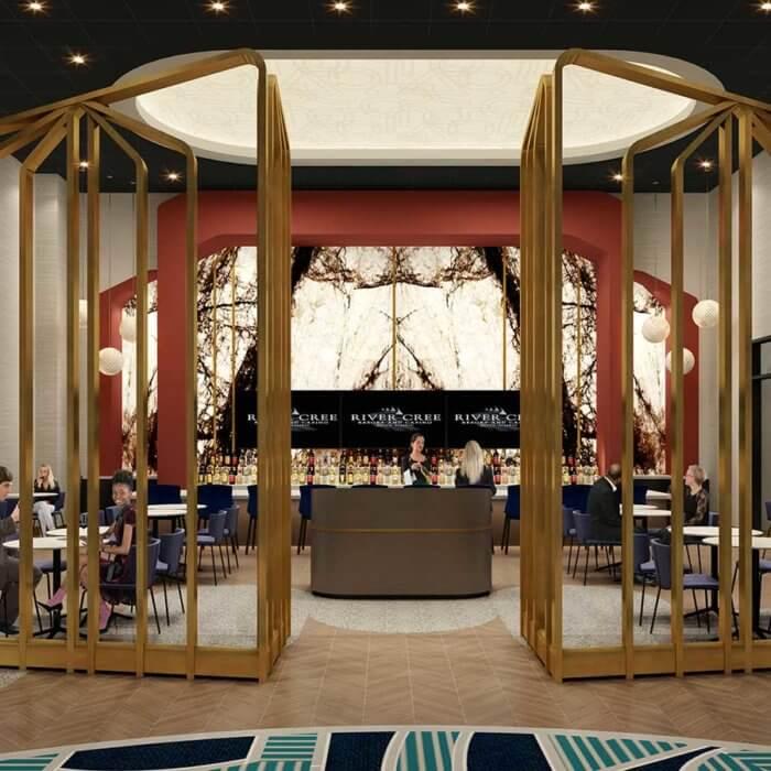 River Cree Resort Casino Bar | Casino Interior Design