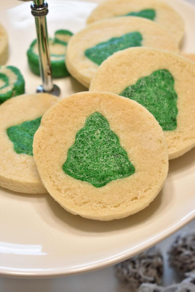 Vegan Christmas Tree Sugar Cookies