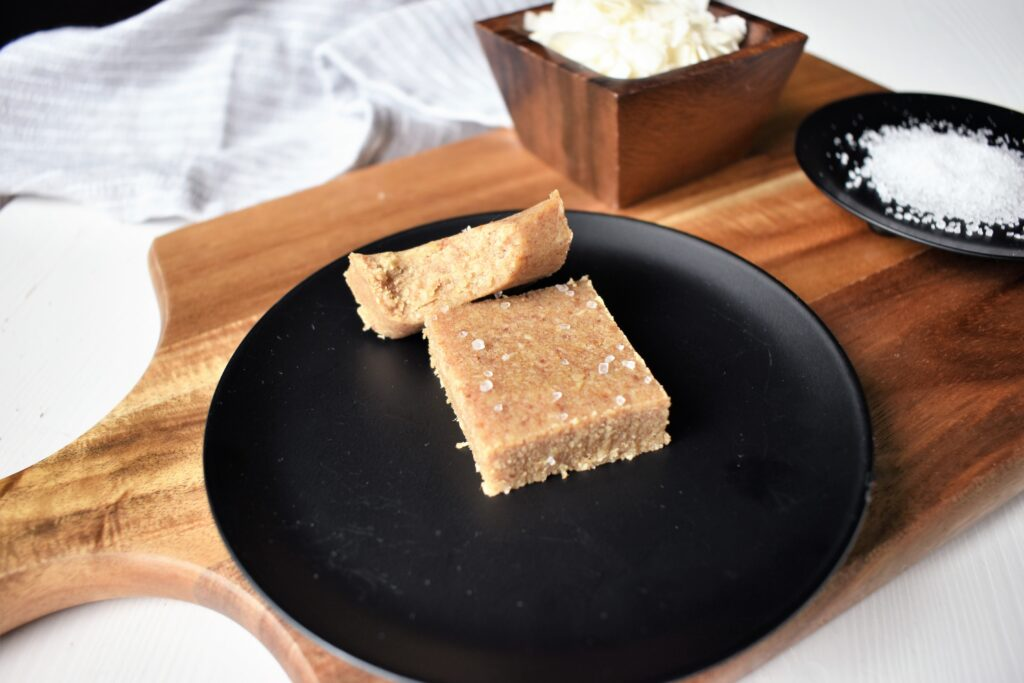"Salted Coconut ""Fudge"" Date Squares"