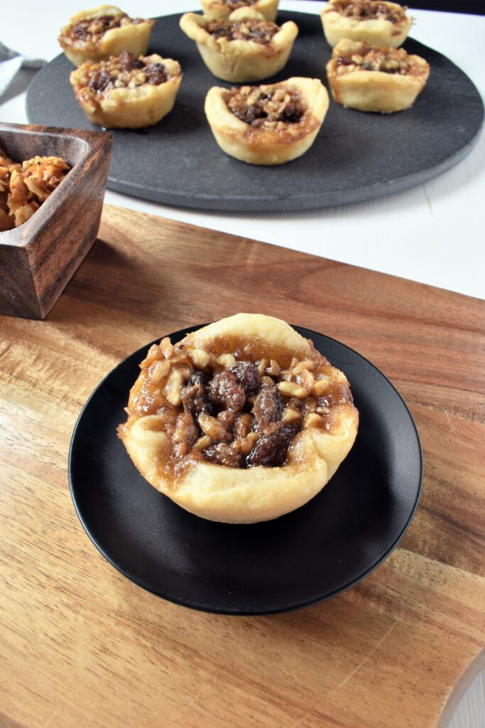 Vegan Butter Tarts Recipe with Vegan coconut bacon