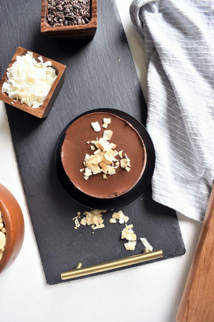 Chocolate Coconut No Bake Cake