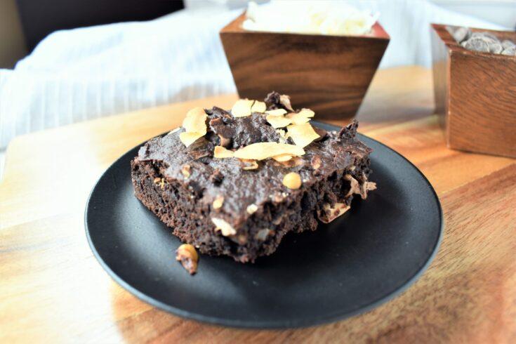 Refined Sugar Free Coconut Chocolate Fudge Brownies